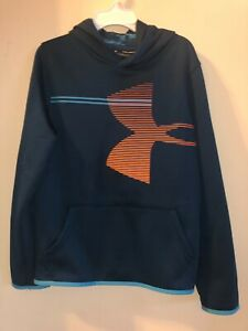 Kids Under Armour Turquoise hoodie sweatshirt youth XLG $13.50