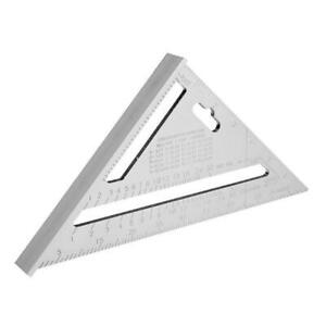 7inch Aluminum Alloy Measuring Right Angle Triangle Ruler Woodworking Tool X7W0 $9.53