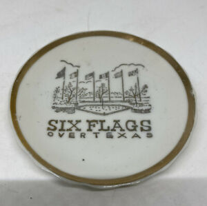 Vintage Six Flags Over Texas Collectors Saucer
