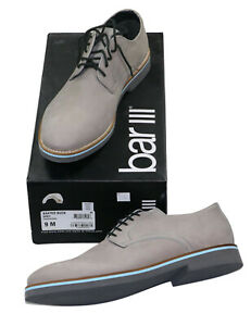 Bar III Baxter Buck Collection Genuine Leather Dress Shoes 9 Grey Store Display