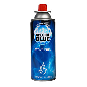 12 Cans Stove Fuel by Special Blue 220 ml Butane Gas for portable camping stoves