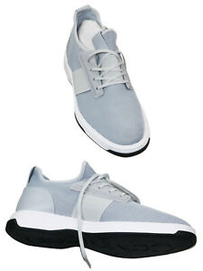 Calvin Klein Phyll Leather amp; Nylon Men#x27;s Sneakers Size 11 Grey Store Display