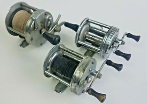 3 VTG Shakespeare Fishing Casting Reels Criterion Superior Service 1944M