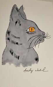 Andy Warhol Sam The Cat original signed Ink and watercolor $900.00