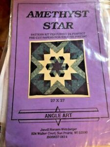 Amethyst Star Pattern by Angle Art Pattern Kit w 24 pre cut Papers UNUSED $7.00