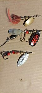 OLD LURES FOUR OLD SPINNER BAITS SOME MEPPS UNBRANDED GREAT FOR TROUT PANFISH.