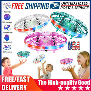 Hand Flying UFO Ball LED Mini Induction Suspension RC Aircraft Drone Toys Gift🥇 $42.16