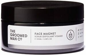 The Groomed Man Co Facd Magnet Scrub exfoliant Visage NEW NO BOX