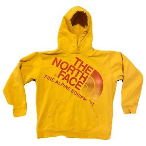 Mens THE NORTH FACE Yellow amp; Red Hoodie Sweatshirt Sz XXL $28.30