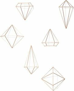Set Of 6 Home Decor Wall Sculptures Umbra Prisma Geometric Decorate Your With Mo $35.66