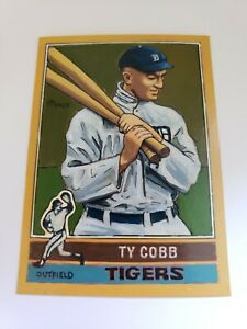 Baseball Art Card ORIGINAL of Ty Cobb 1976 Style 1 1 Acrylic painting. $32.00
