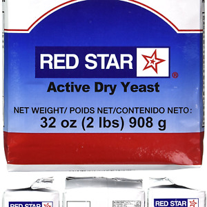Red Star Active Dry Yeast 2 Pound Pouch 2 Pound Pack of 1 $10.86