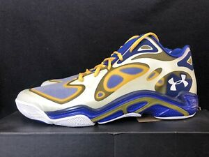 Under Armour Anatomix Spawn Curry PE LOW GSW Royal blue Yellow SZ 14 DS NEW $149.00