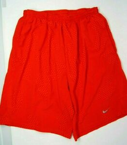 Nike Mens Running Shorts Sz M Red Triangle print built in brief $17.00