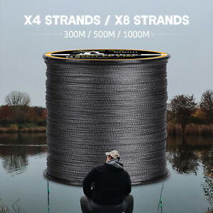 300 500 1000M Super Strong Fishing Braided Line High Strength 4 8 Strands Black