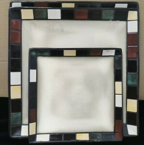3 Home Trends Better Homes Garden Brown Mosaic Tile 11 7 3 4 Square Plates