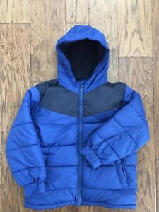 Old Navy Boys Winter Hooded Puffer Jacket Coat Blue Size S 6 7 $9.99