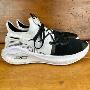 Under Armour UA Curry 6 Working On Excellence White Black 3020612 101 Size 12 $60.00