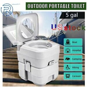Commode Potty Toilet Potty Portable RV Toilet for Camping Boating Traveling 5Gal $63.99