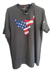 Mens Under Armour Freedom Shirt Flag Longhorn USA 1308734 Charcoal Gray Large L $24.99