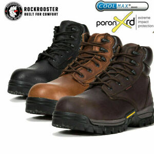 ROCKROOSTER Men#x27;s Work Boot Composite Toe Anti puncture Waterproof Safety Shoes