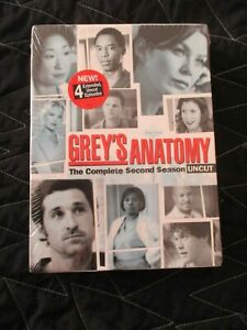 NEW NWT GREY ANATOMY THE COMPLETE SECOND SEASON UNCUT DVDS