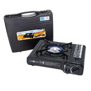 Portable Propane and Butane Gas Stove with Carrying Case For Camping Outdoor