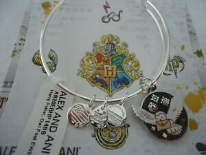 Alex and Ani Harry Potter OWL POST Shiny Silver Bangle New W Tag Card amp; Box $32.99