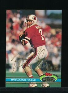 1991 Topps Stadium Club Browning Nagle #326 Rookie signed autograph tough TPD34 $18.00