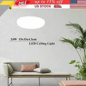 LED Ceiling Down Light 6000K Ultra Thin Flush Mount Kitchen Lamp Home Fixture