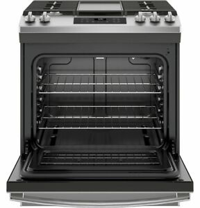 GE Slide in Gas Range JGSS66SELSS in Stainless Steel direct from GE..