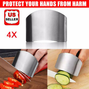 Stainless Steel Finger Guard Kitchen Finger Protector 4 Pcs of Knife Guard $8.98