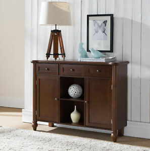 Kings Brand Furniture Wood Sideboard Buffet Cabinet Console Table Walnt $219.99