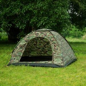 3 4 Person Outdoor Camping Waterproof 4 Season Family Tent Camouflage Hiking