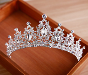 Queen Tiara Crown Wedding Bridal Party Prom Pageant Silver $13.68