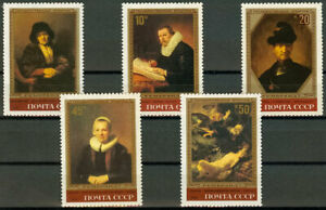 Russia USSR 1983 Sc# 5129 5133 MNH Rembrandt paintings in Hermitage $1.99