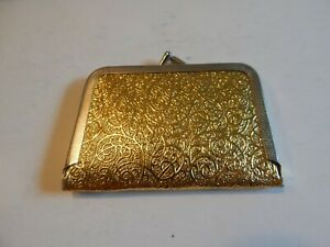 Vintage Sewing Kit Intricate Gold Case Kiss Lock Closure 20 Sewing Tools Travel $9.00