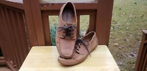 Store Display New Timberland Odelay 4 Eye Boat Deck Shoes Low Lace Up Mens 10.5