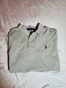 Polo Ralph Polo Shirt Gray with Navy Pony size extra large $24.99