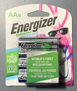 ENERGIZER AA RECHARGE BATTERY 8 PACK BATTERIES NEW IN ORIGINAL PACKAGING