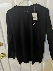 Yonex Mens Black Long Sleeve Small Dry Fit Shirt. New with Tags $5.50