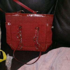 Red Coach Purse Used
