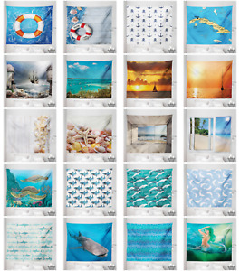 Ambesonne Ocean Scene Microfiber Tapestry Wall Hanging Decor in 5 Sizes $13.99