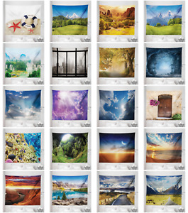 Ambesonne Scenery Print Microfiber Tapestry Wall Hanging Decor in 5 Sizes $13.99