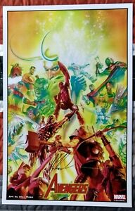 2014 SDCC Exclusive SIGNED Alex Ross AVENGERS Marvel Art Print 11x17 $54.99