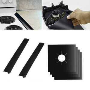 4Pcs 0.12mm Universal Heavy Duty Oven Liner Gas Hob Protector Sheets and 2Pcs $12.26