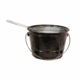 Texsport EZ BBQ Portable Barbecue BBQ Bucket Grill Black Red Free US Shipping