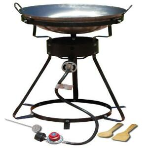 Outdoor Propane Cooker Portable Steel Wok Camping Cast Burner Turkey Fryer 24quot;