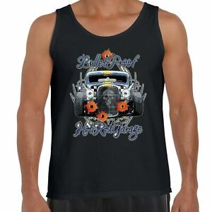 Mens Hotrod 58 Hot Rat Rod Bullet Vest Tank Top American Vintage Custom Car 169 C $40.99