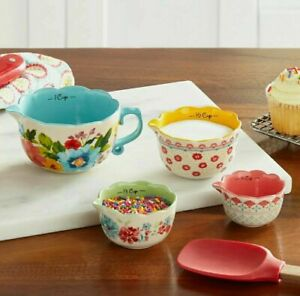 Great gift The Pioneer Woman Breezy Blossom Stackable 4 Piece Measuring Bowl Set $24.99